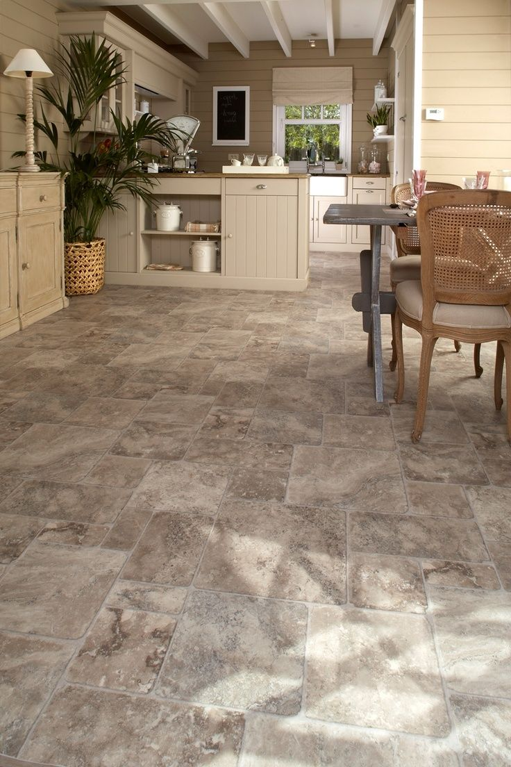 Beautiful Grey Waterproof Flooring Ideas For Living Room: This Floor Is Actually Vinyl But It's So Hard To Tell With