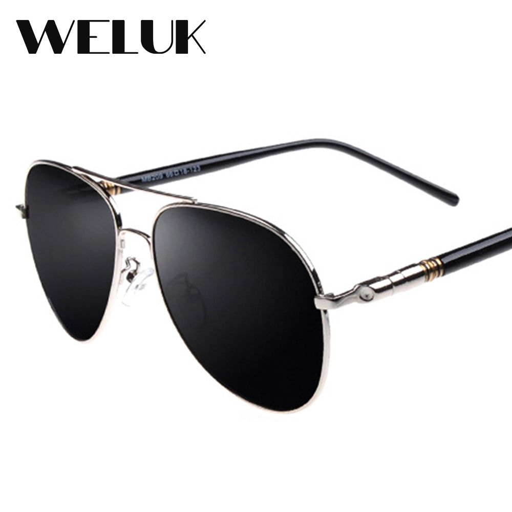 1060ef5ef2a WELUK Men Classic Brand Pilot Sunglasses Polarized Aviator Aluminum Driving  Sun glasses Luxury Shades UV400