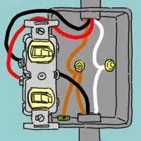 double light switch wiring on wiring a double light switch diagram rh pinterest com Light Switch Wiring Diagram how to wire a double switch to two separate lights diagram uk
