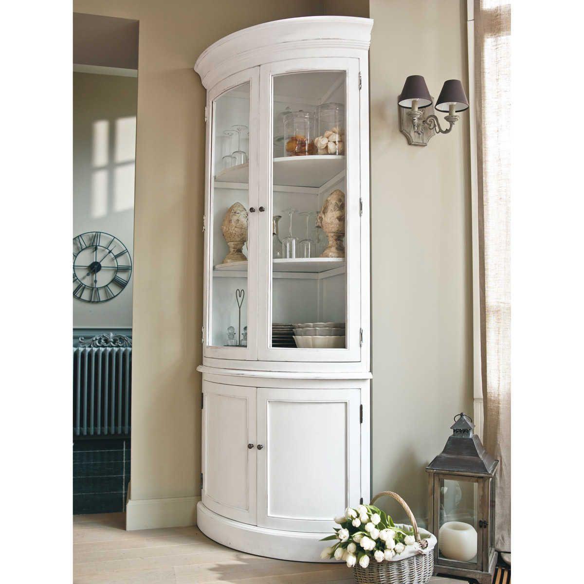 Mueble esquinero de madera blanca an 68 cm muebles - Mueble esquinero cocina ...