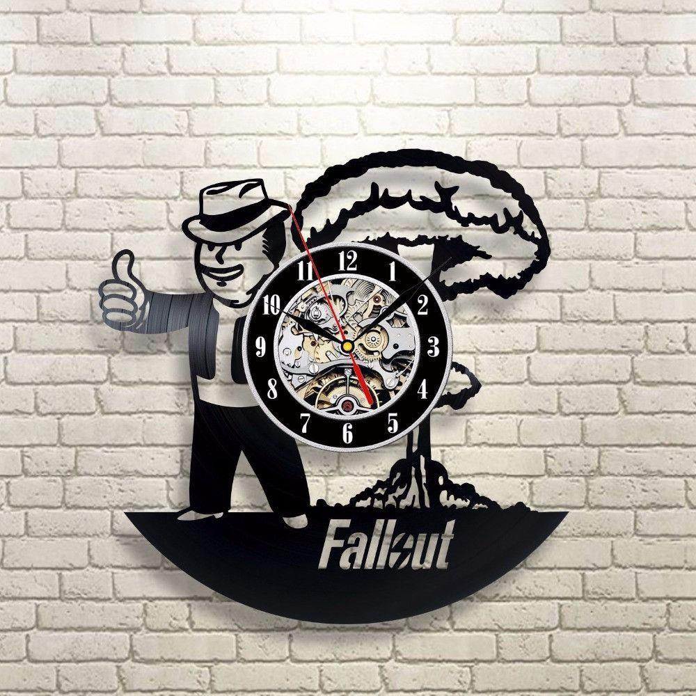 Fallout 3D Vinyl Record Wall Clocks | Products | Pinterest