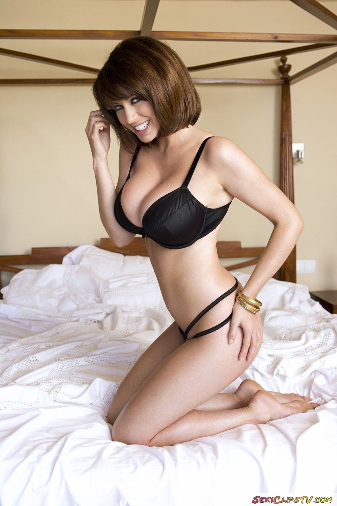 brunette lingerie hair Short