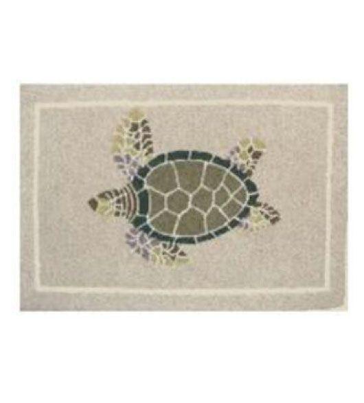 Beach Theme Decor Beige Sea Turtle Indoor Or Outdoor Rug Beach