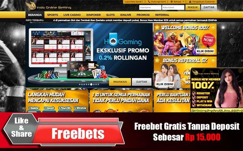 Pin Di Freebet Betgratis Promo