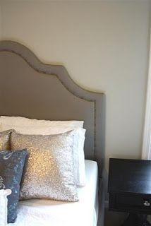 DIY Upholstered Platform Bed with Curved Fabric Headboard