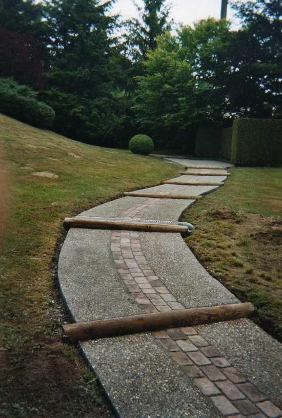 Allee De Jardin En Beton - Rellik.us - rellik.us