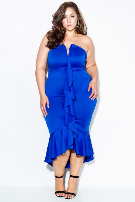 0fa282c5a11 Plus Size Cascade Ruffle Dress