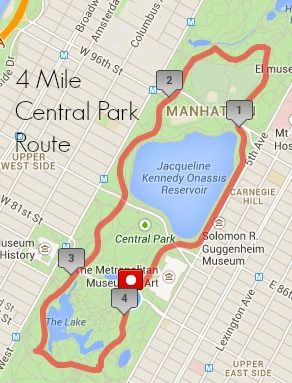 4 Mile Central Park Running Route Central Park Central Park Nyc Park In New York