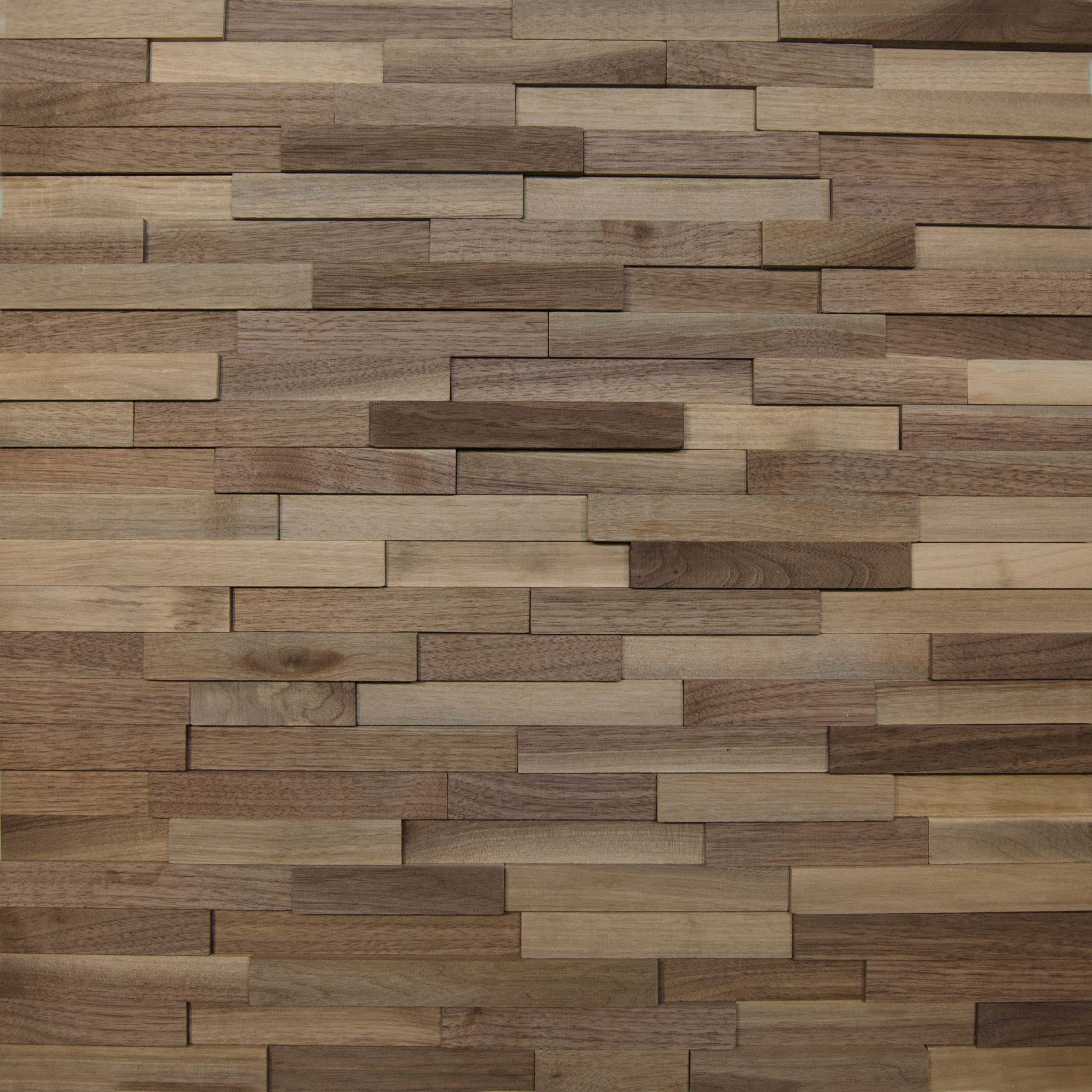 Wallure Striped - Walnut - Narrow - Sleek - Natural Wooden ...