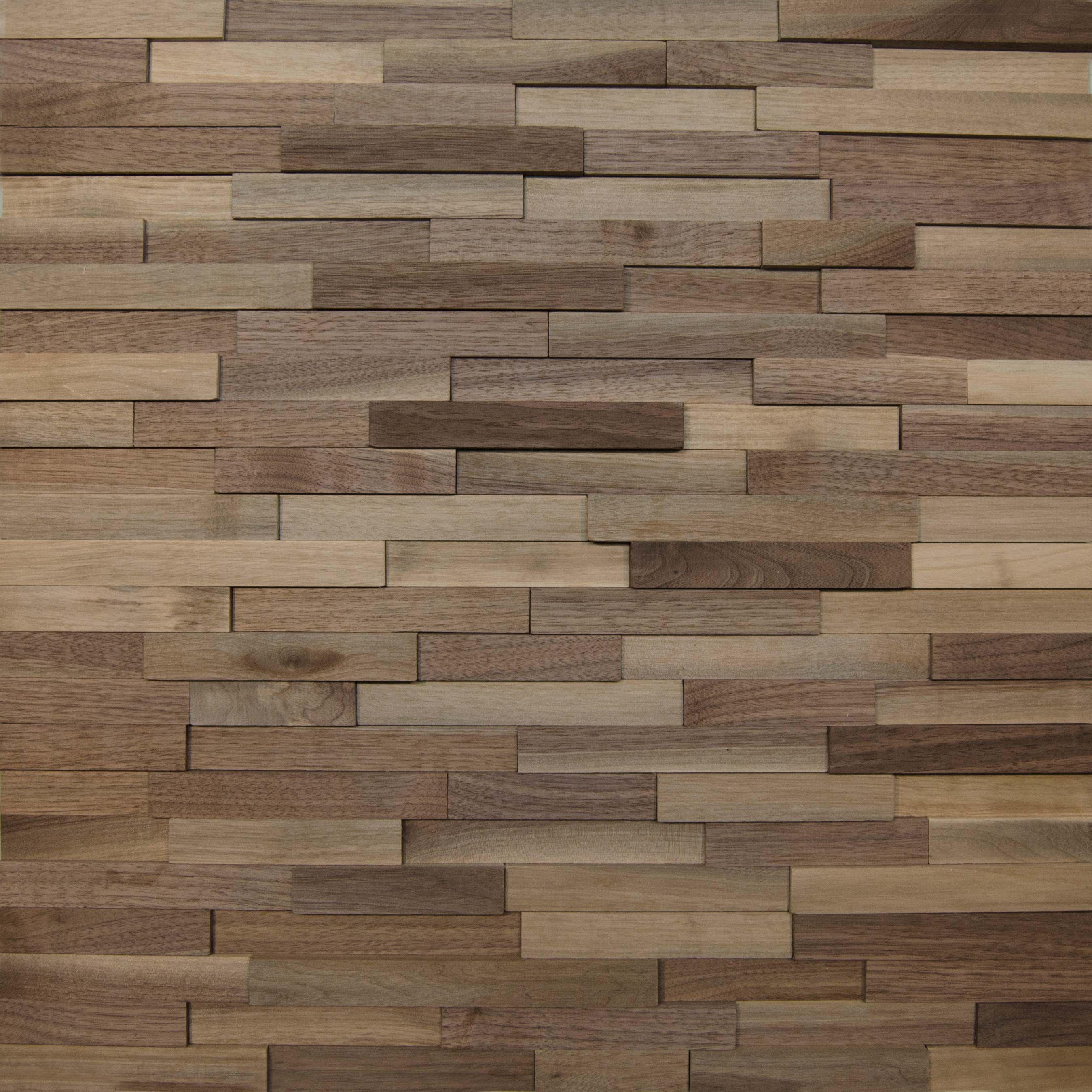 Wallure Striped - Walnut - Narrow - Sleek - Natural Wooden ...