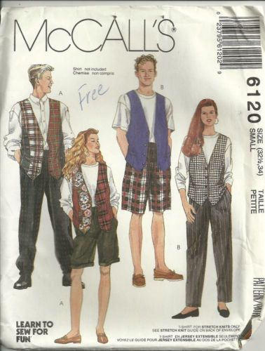 Mens' Misses' Pants Shorts T Shirt Vest Pattern by debspatterns55, $4.00