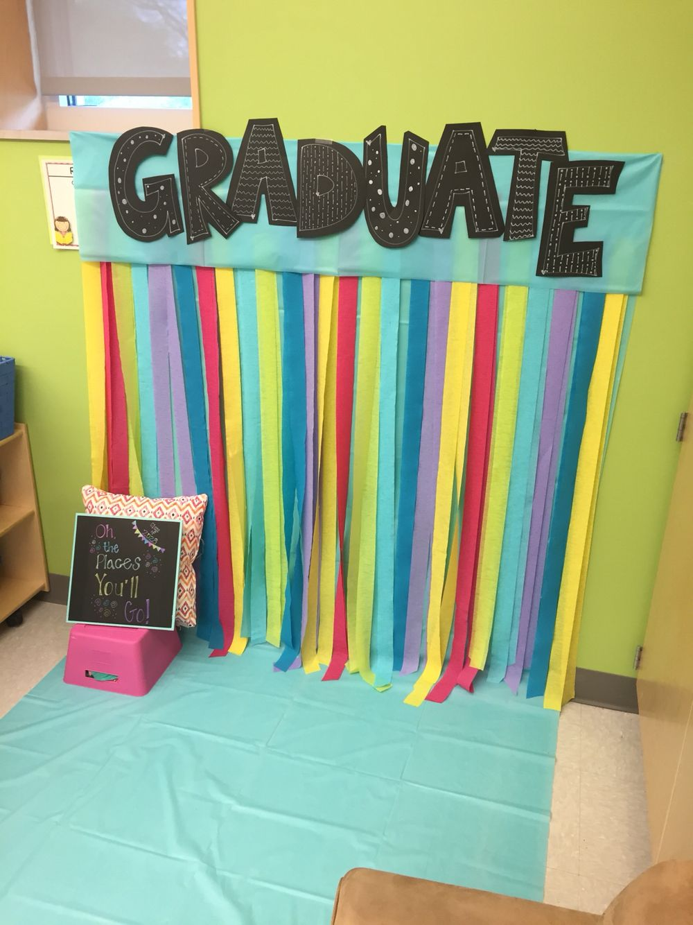 End Of Year Photo Booth Kindergarten Kids Graduation Pre School Graduation Ideas Kindergarden Graduation
