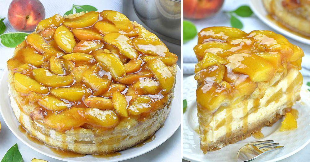 Peach Cobbler Cheesecake #peachcobblercheesecake