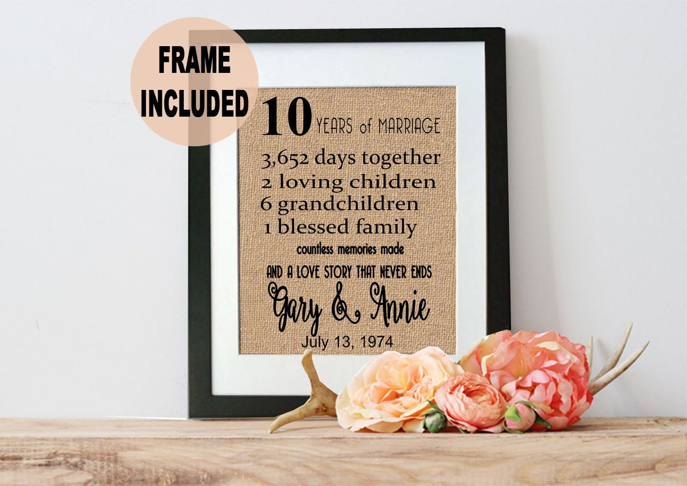 10 Years Wedding Anniversary Gift Ideas: 10 Years Together
