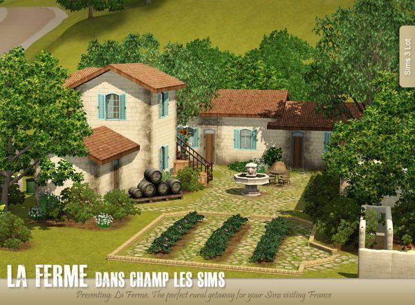 AppleFall s La Ferme Dans Champ Les Sims