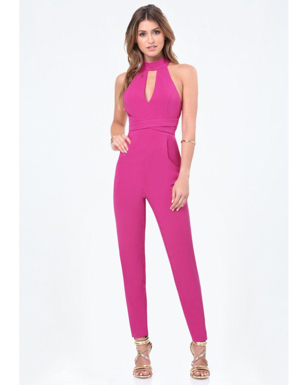 4839857cfc83 Women s Pink Jagger Mock Neck Jumpsuit