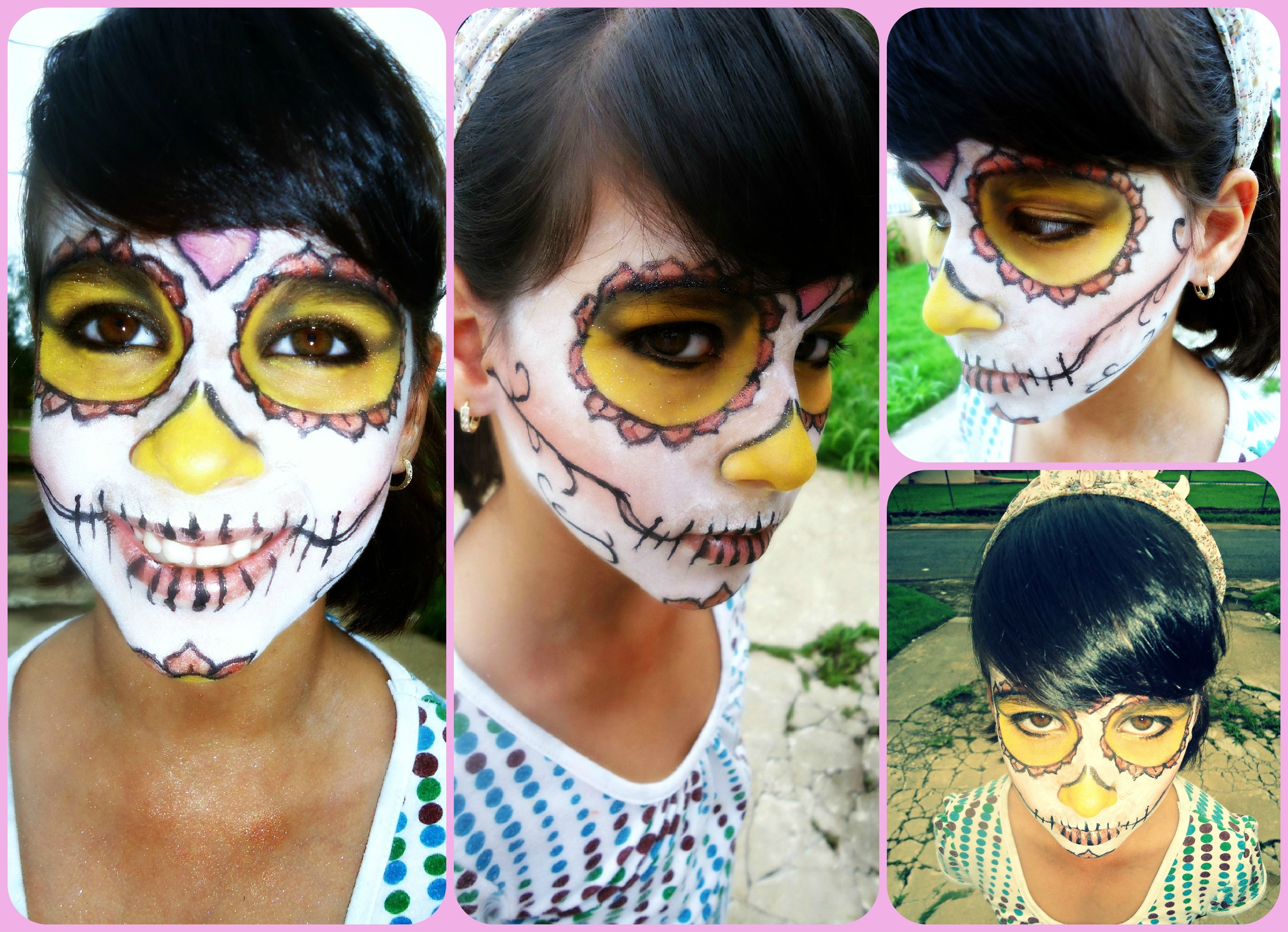 The day of the Dead   Yellow Make up