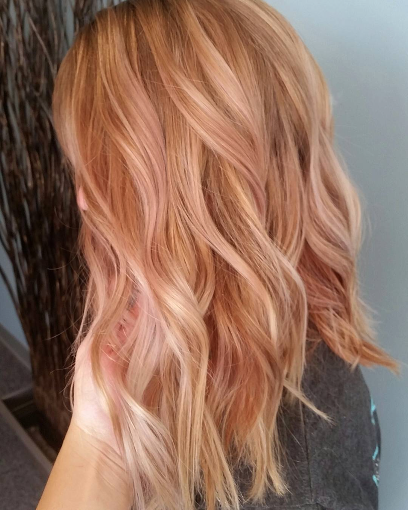 Rose Gold Hair Beauty And Coloring Photos Blonde With Highlights For
