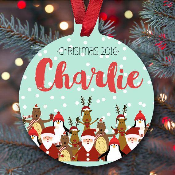 Children\u0027s personalized Christmas Christmas Tree Holiday Ball