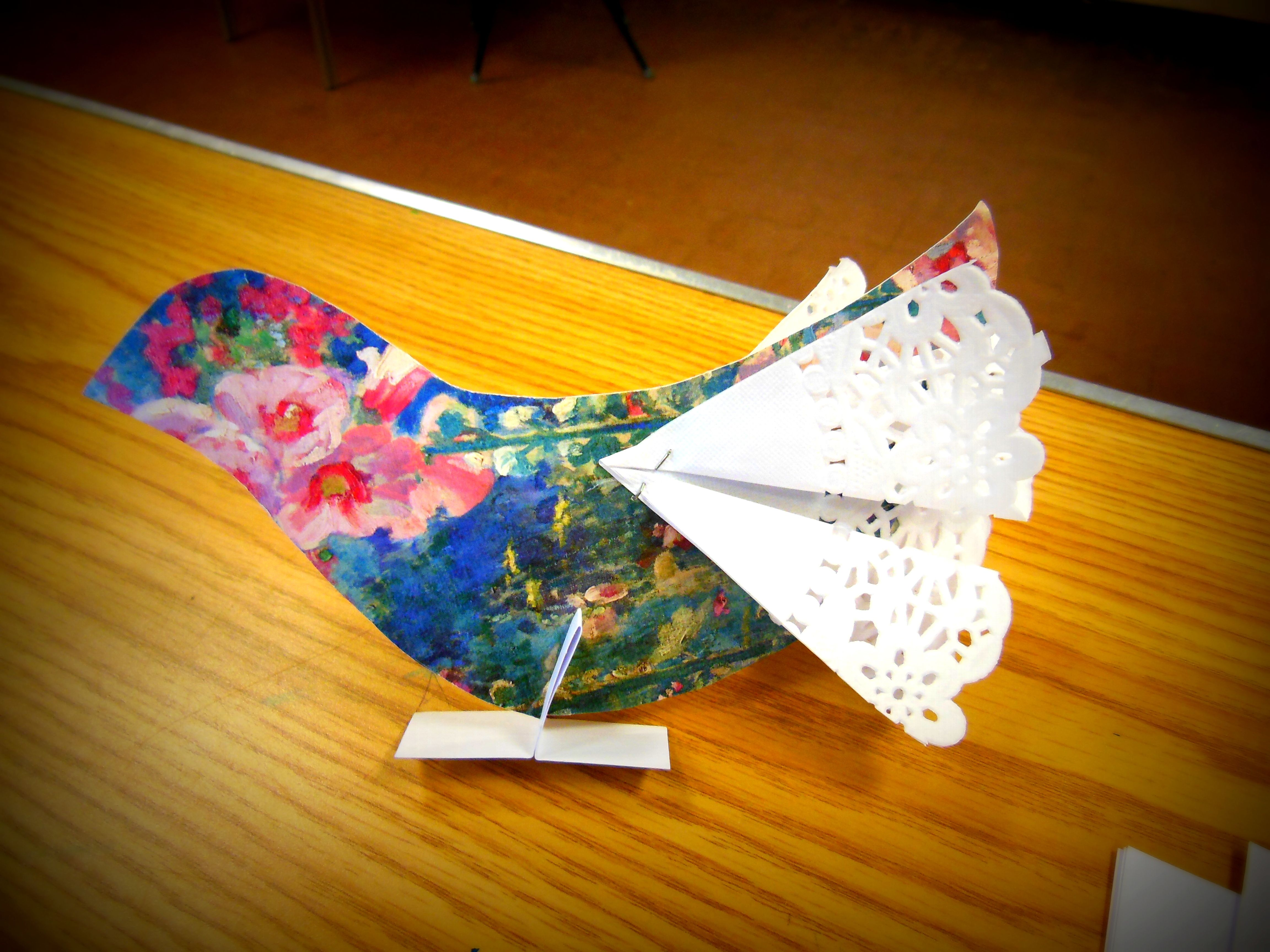 Make an easy colourful bird with old greetings cards and doily make an easy colourful bird with old greetings cards and doily sections kristyandbryce Images