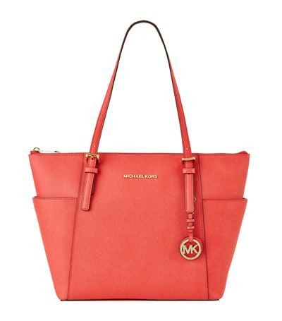 MICHAEL MICHAEL KORS Medium Jet Set Item Top-Zip Tote. #michaelmichaelkors #bags #leather #hand bags #tote