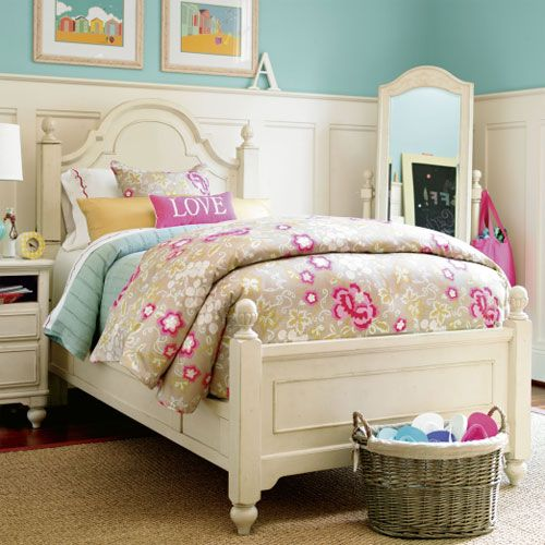 Magnolia Twin Low Post Reading Bed Girls Furniture Furniture