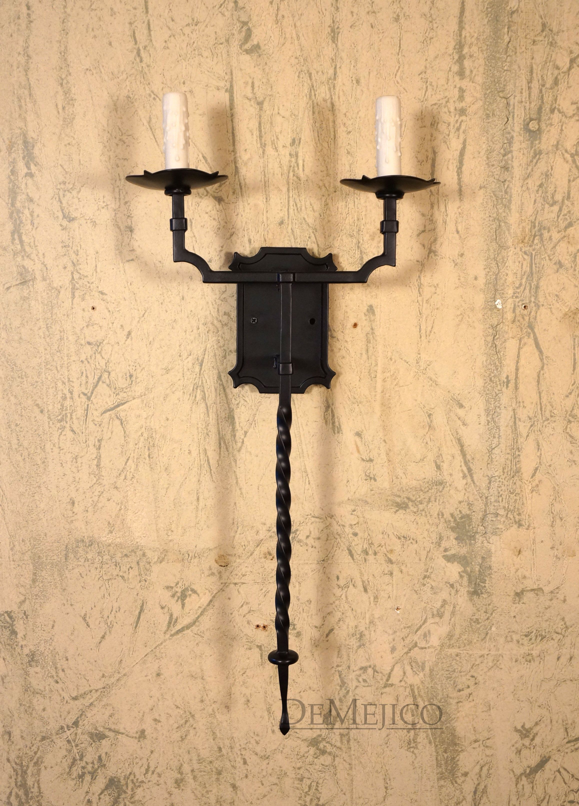 These Hand Forged Iron Sconces give off the perfect Old World look ...