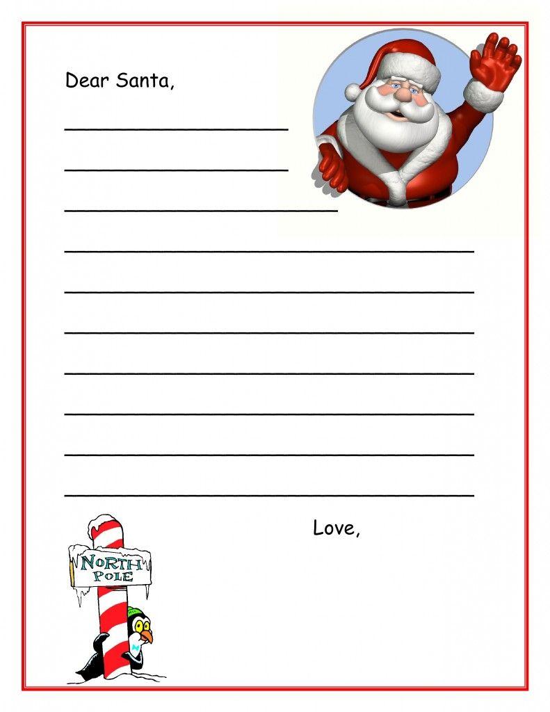 Santa letter writing paper template santa letter templates santa letter template spiritdancerdesigns Images