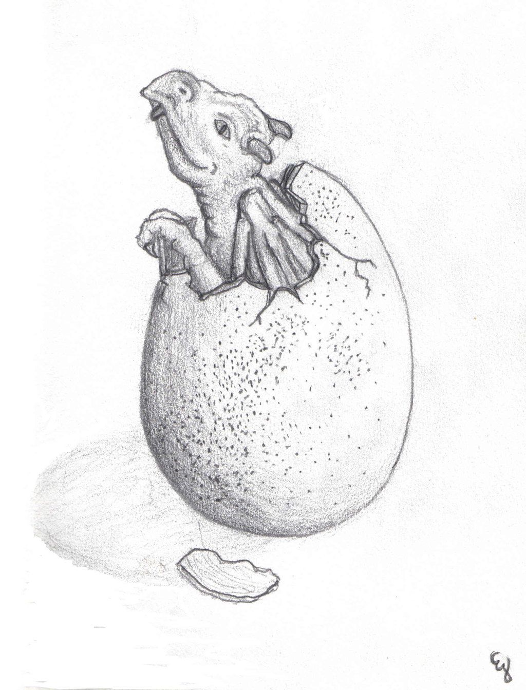 baby dragon hatching coloring pages - photo#29