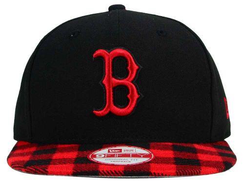 aecb12f1a55b43 Boston Red Sox New Era MLB Premium Plaid 9FIFTY Snapback Cap | Red ...