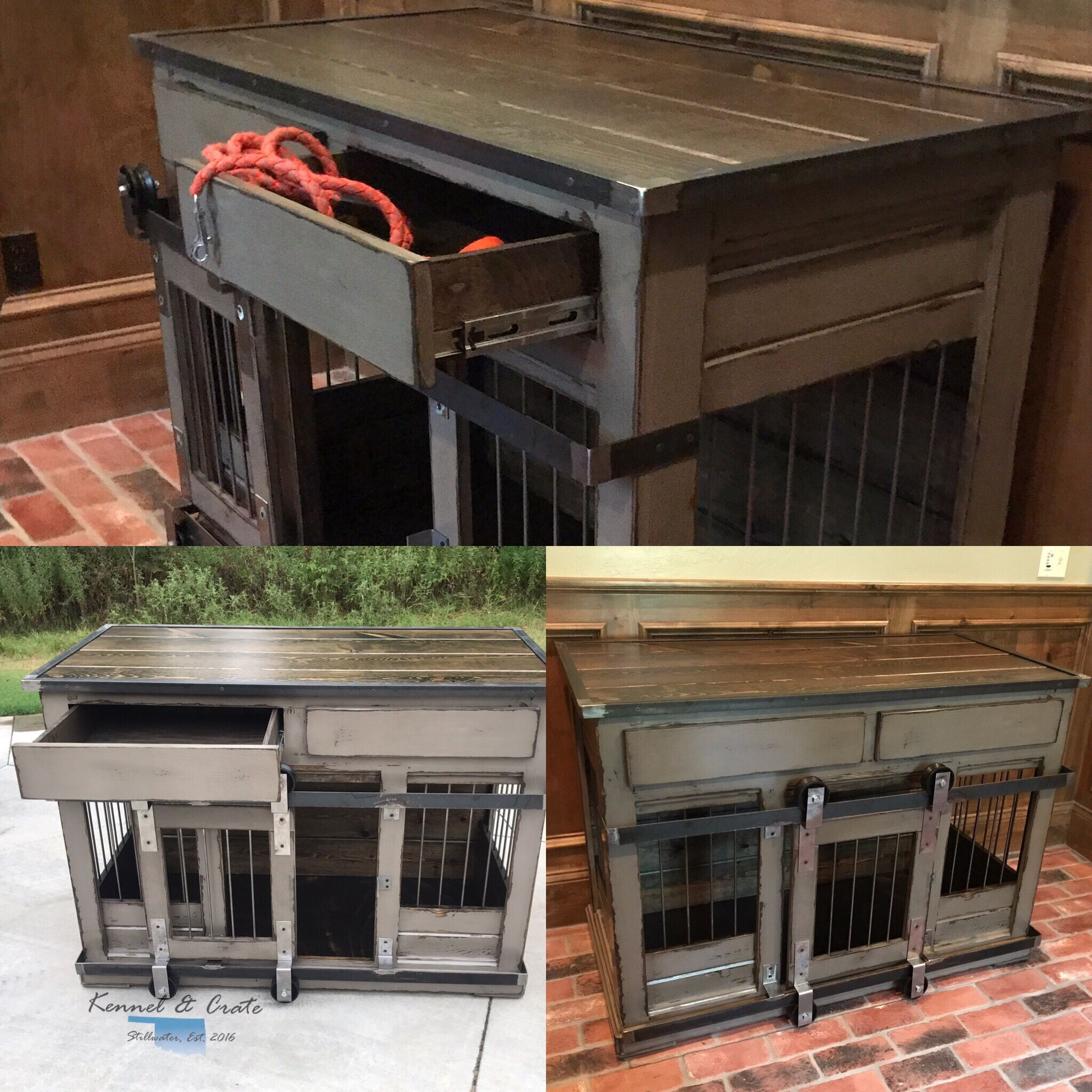 Farmhouse Style Kennel And Crate Double Dog Kennel For The Designer In You Featuring Dual Rolling Barn Luxury Dog Kennels Plastic Dog Kennels Dog Kennel Cover
