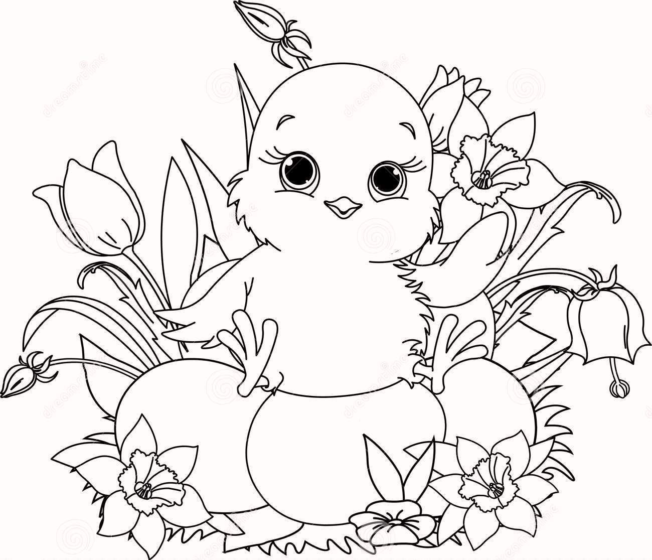 Chick Easter coloring pages | Religious Easter Coloring Pages ...