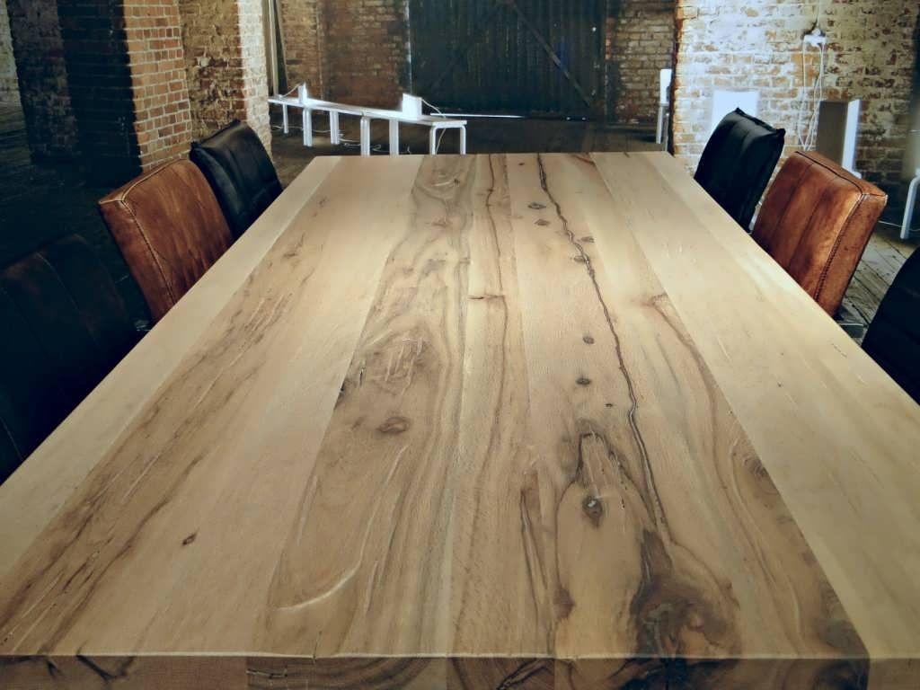 Eiken tafel lakken. perfect massief eiken tafelblad with eiken tafel