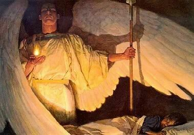 """O God, who in Thine ineffable Providence, hast sent Thy Holy Angels to watch over us; grant, we humbly pray, that we may always be defended by their protection and may rejoice in their fellowship forever. Amen ✨ -Catholic prayer,  From """"Angels Around Us."""" ✨"""