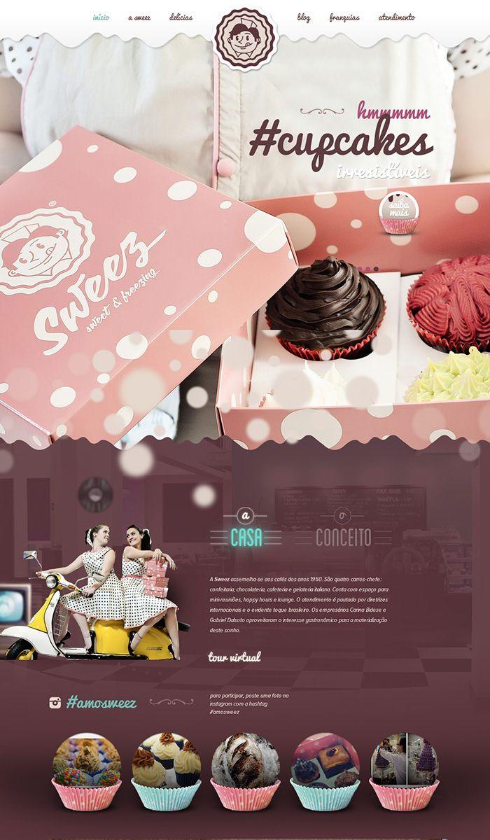 showcase of 10 beautiful cupcake website design graphics and rh pinterest com