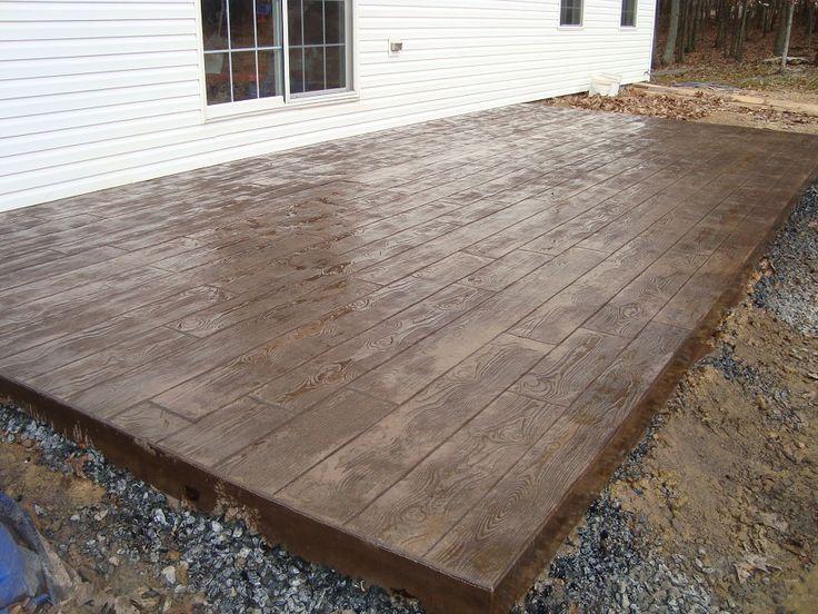 Wood Stamped Concrete Patios Concrete patio, Patio