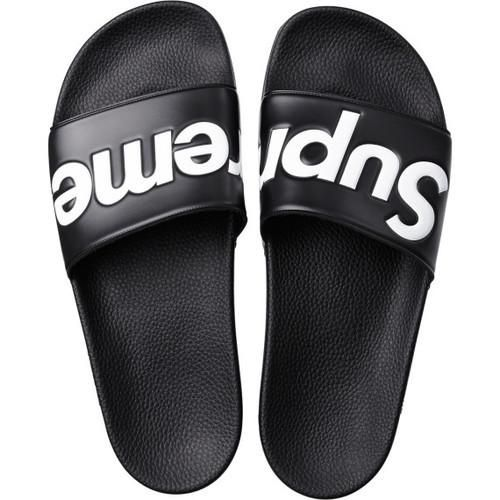 Black Supreme Slides High quality rubber and the iconic Supreme brand combine…