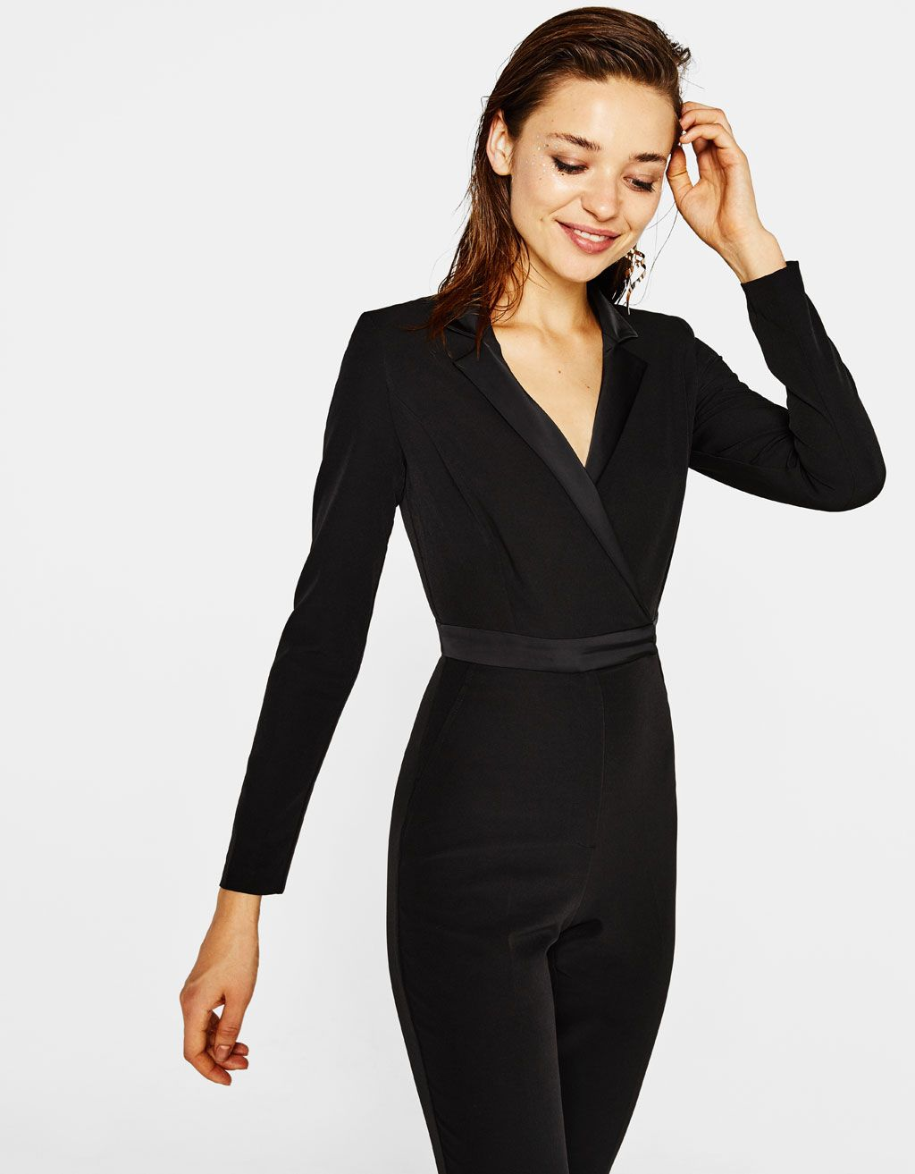 0f9d705ea1 Tuxedo-style jumpsuit. Discover this and many more items in Bershka with  new products every week