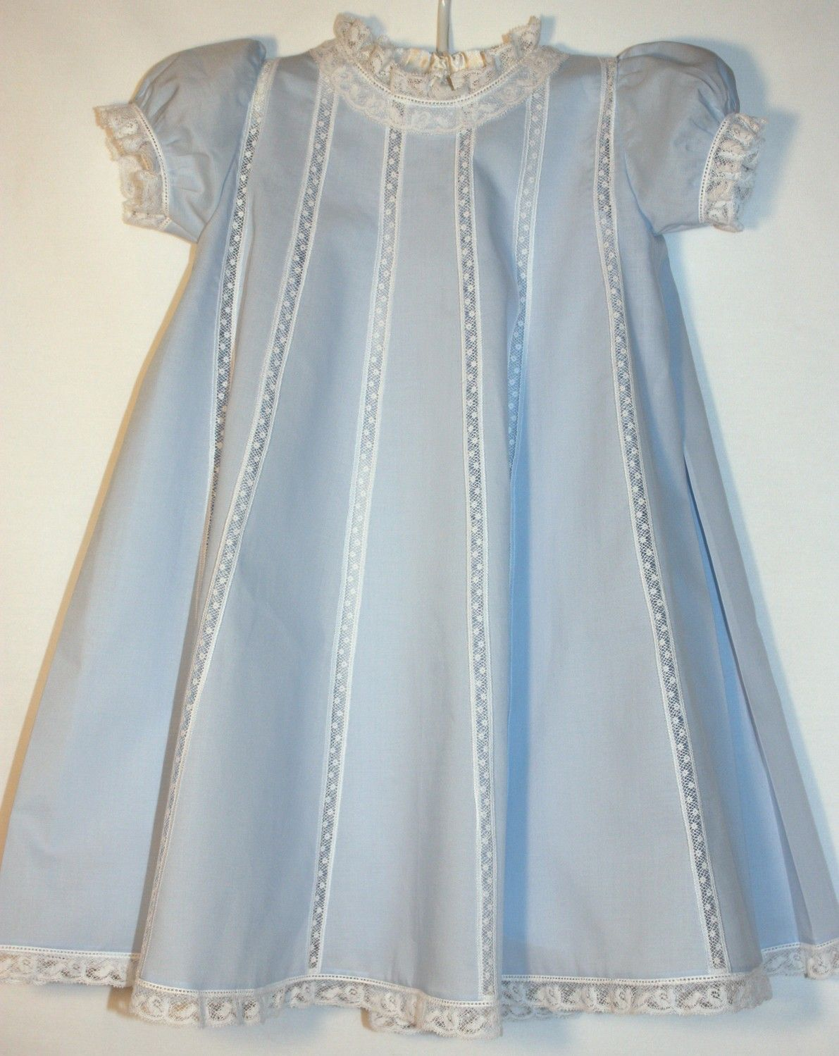 Simple and Sweet; this looks like the Mary Claire pattern. A perfect baby girl's christening ourfit