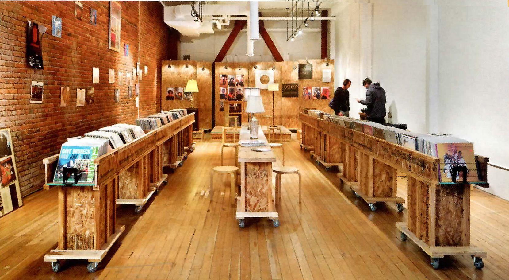 Cool record store  From Interior Design Magazine