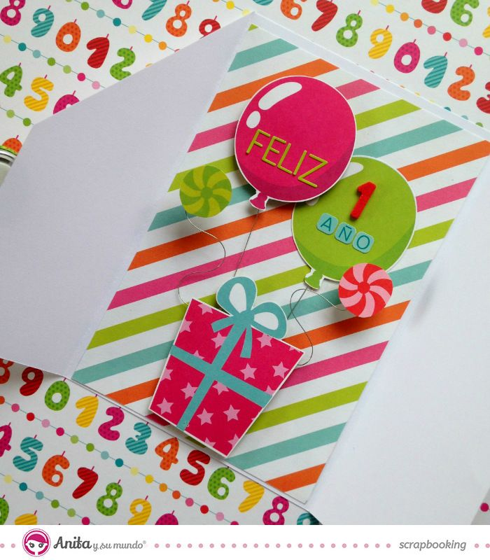 Manualidades con papel tarjeta de cumplea os paso a paso - Manualidades para cumpleanos ...
