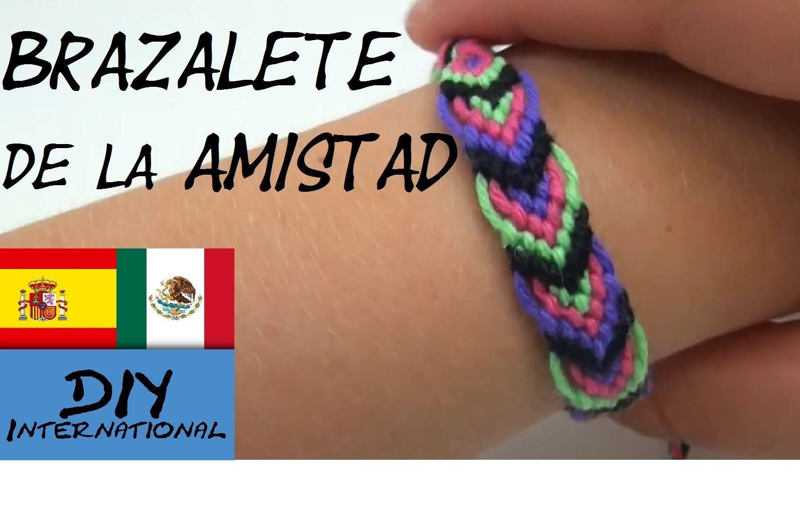 CÓMO HACER BRAZALETE DE LA AMISTAD - TUTORIAL - DIY