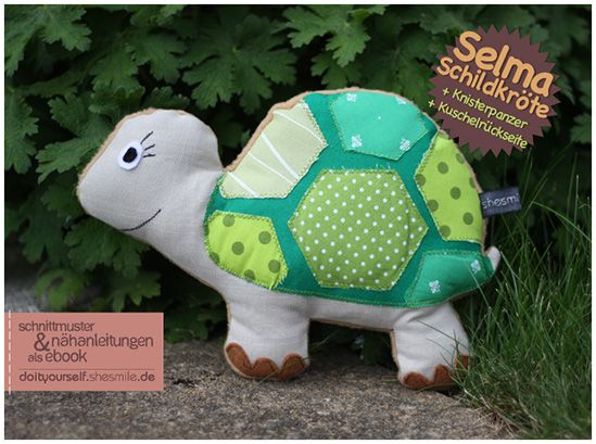 Selma Schildkröte (Nähanleitung und Schnittmuster) | Nähen ...