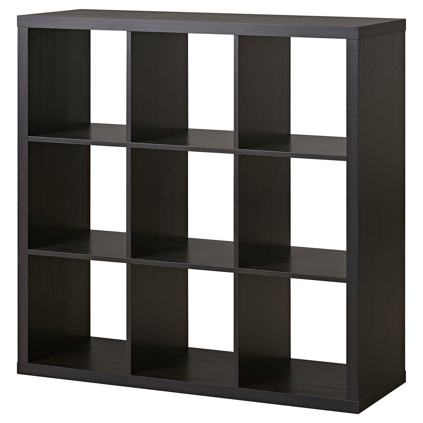 Ikea Kallax Black Brown Shelf Unit In 2020 Ikea Kallax Shelf