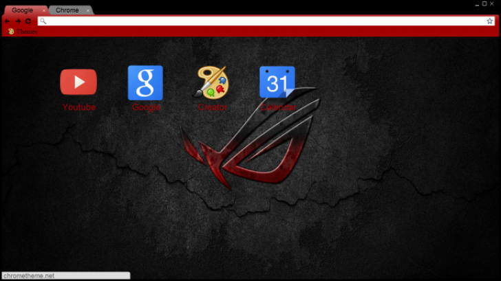 black red asus chrome theme themebeta my google chrome themes