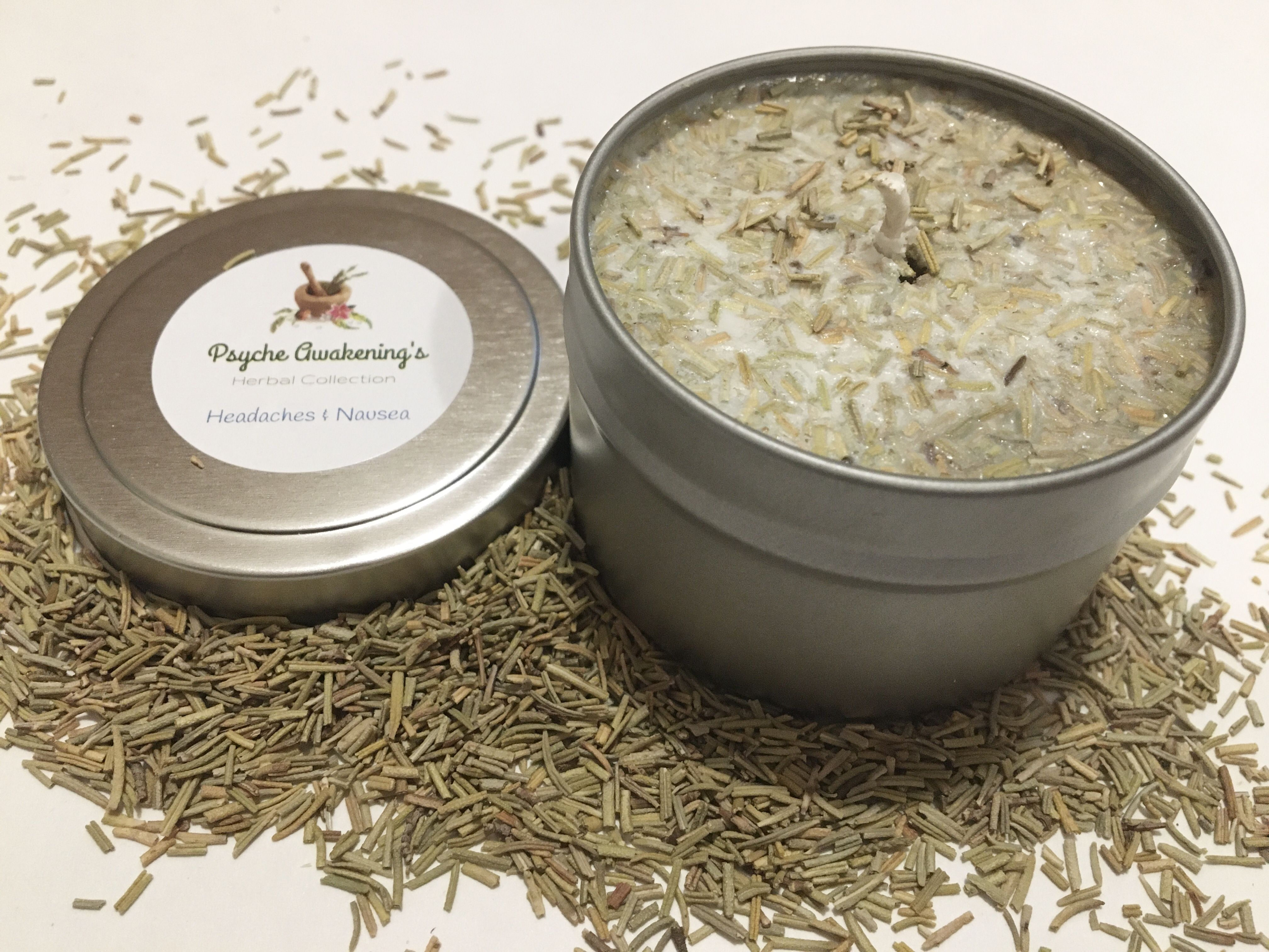 Herbal Candles for Headaches & Nausea #aromatherapycandles