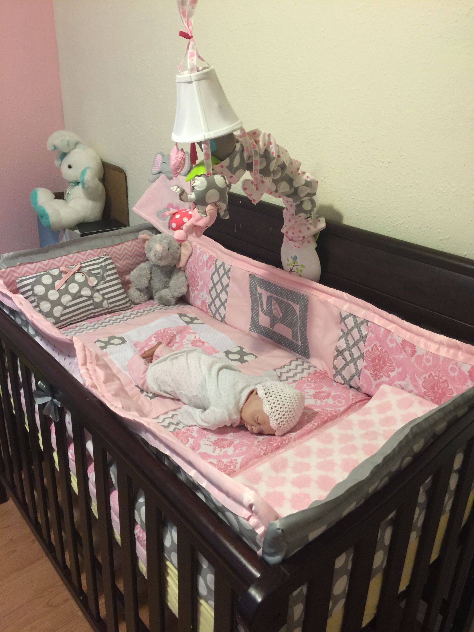Nursery Bedding Pink And Grey
