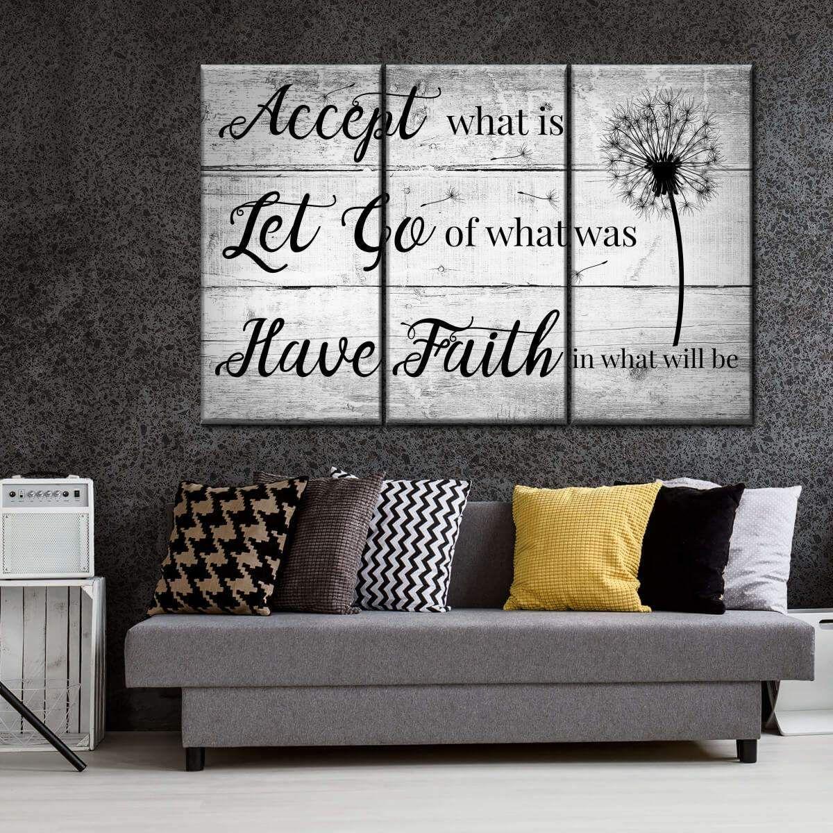 Have Faith Multi Panel Canvas Wall Art Family Wall Decor Room Wall Art Decor