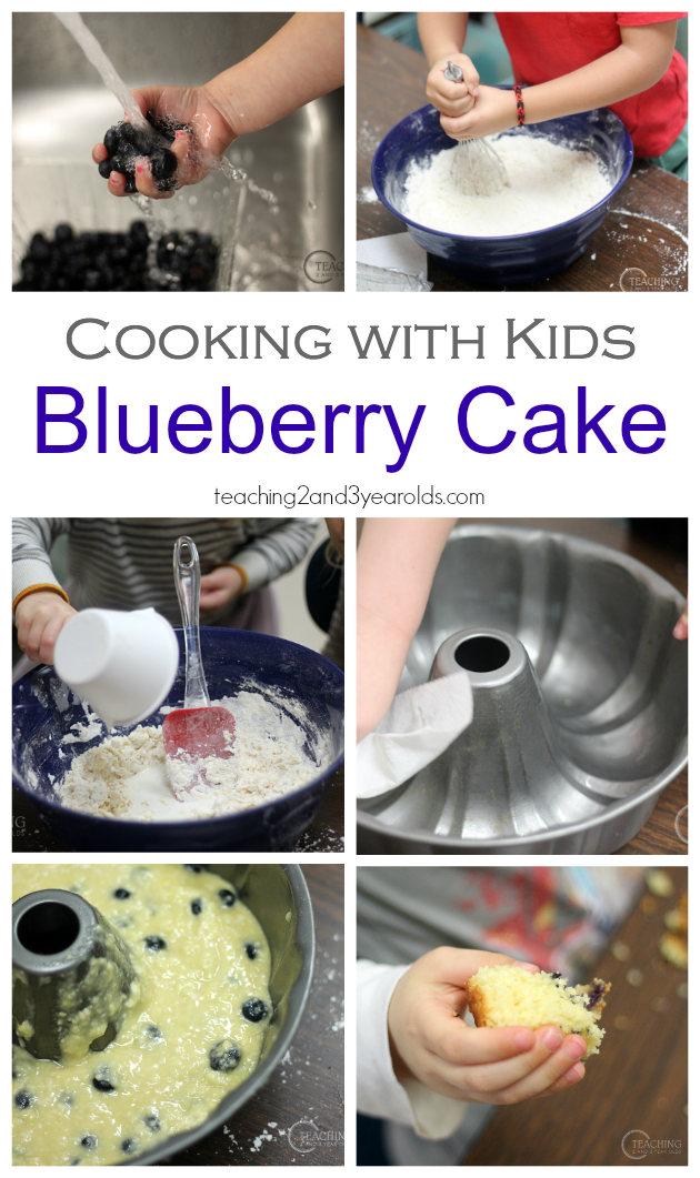 Classroom Cooking Ideas For Kindergarten ~ Cooking with kids easy blueberry cake preschool