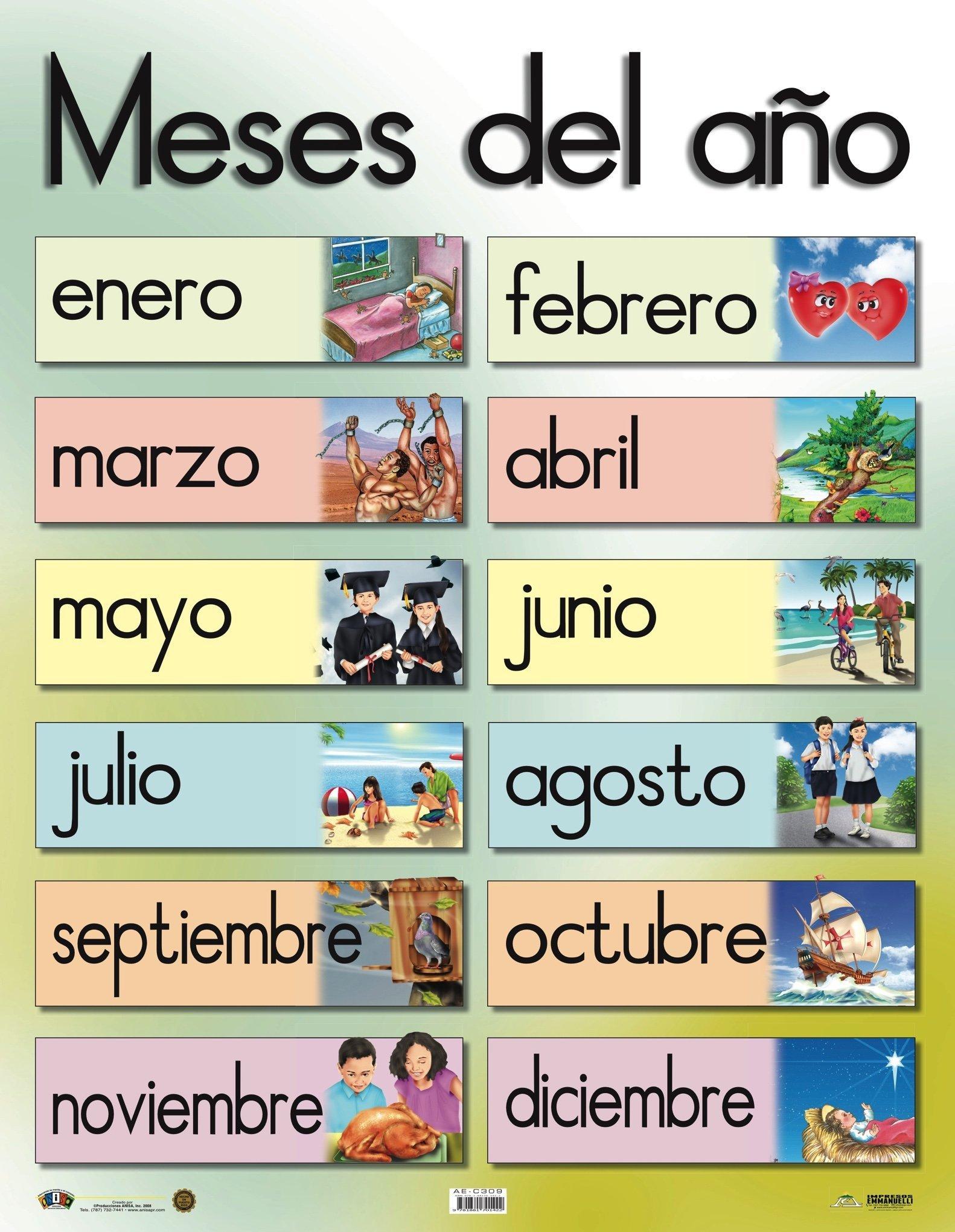 Ae C309 Meses Del Año Meses Del Año Artes Del Lenguaje Forma Palabras